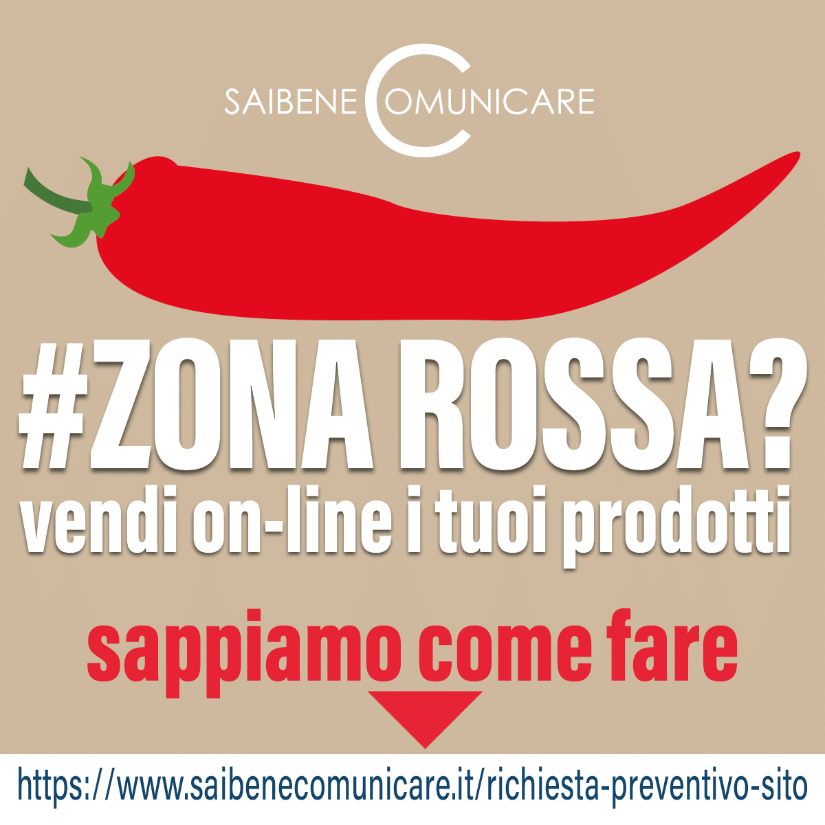 Read more about the article Zona rossa? Vendi on line!